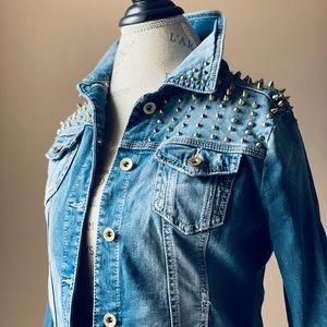 Forever21 Studded Jean Jacket